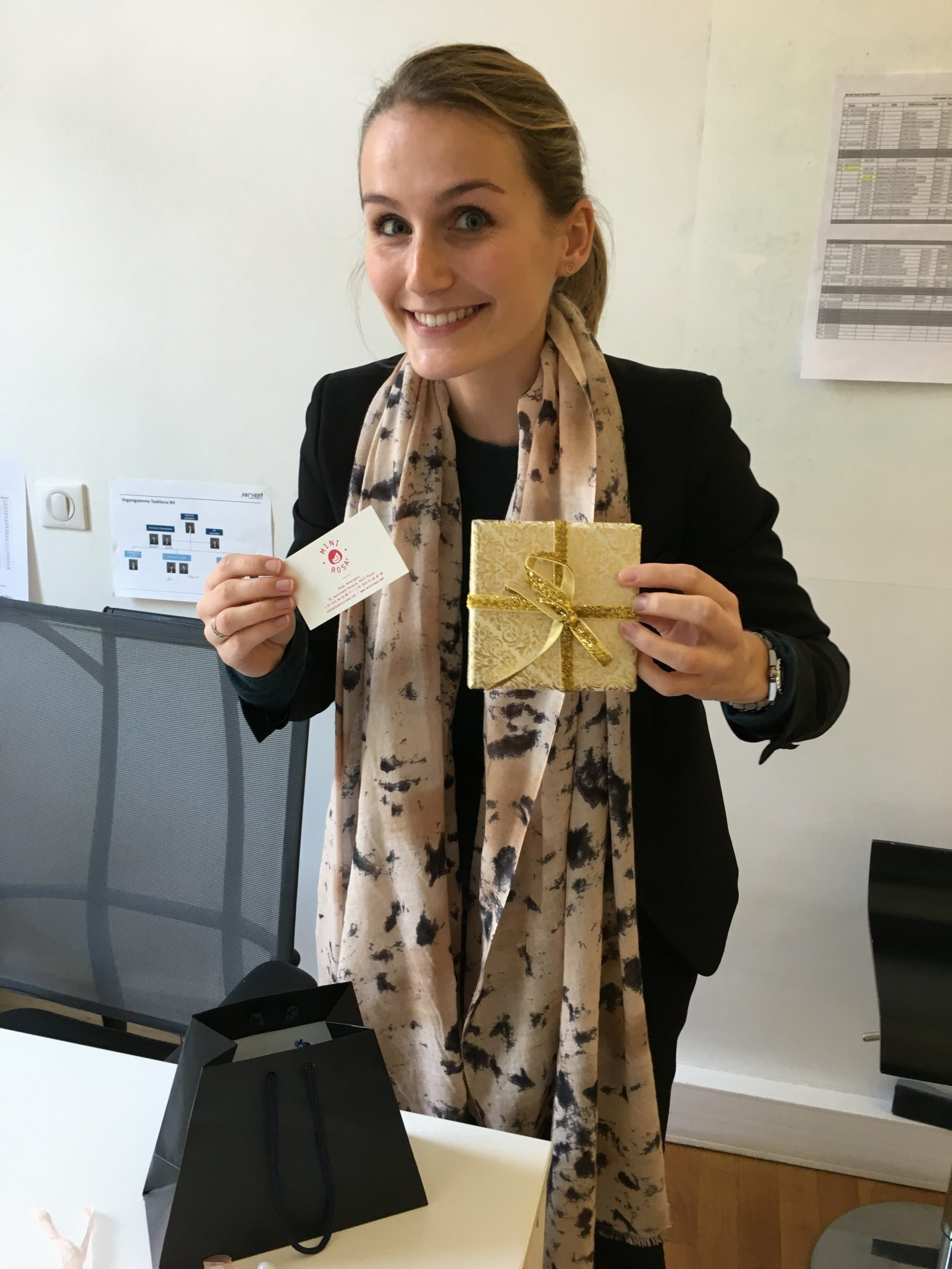 Manon, la gagnante du concours Mini Rosa / En Aparté